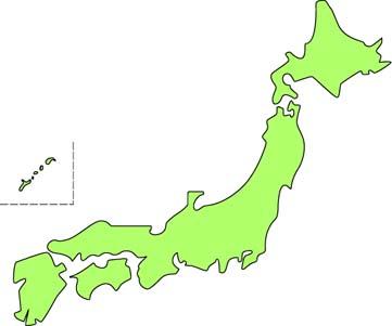 日本 西日本 地図 無料 : 画像 : 日本列島 地図画像集 ...