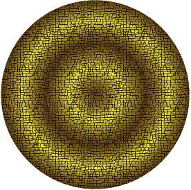 イラレ グラフィックスタイルでグラデーションを入れたパターンスウォッチ(楕円形)