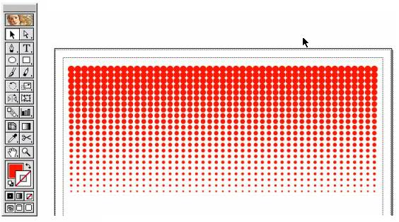 illustratorでドットのグラデーションを作るやり方