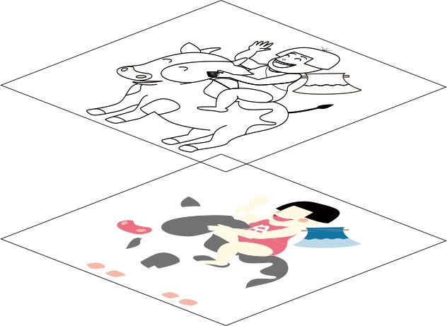 イラレのレイヤーの順番と色レイヤーの位置、整理方法
