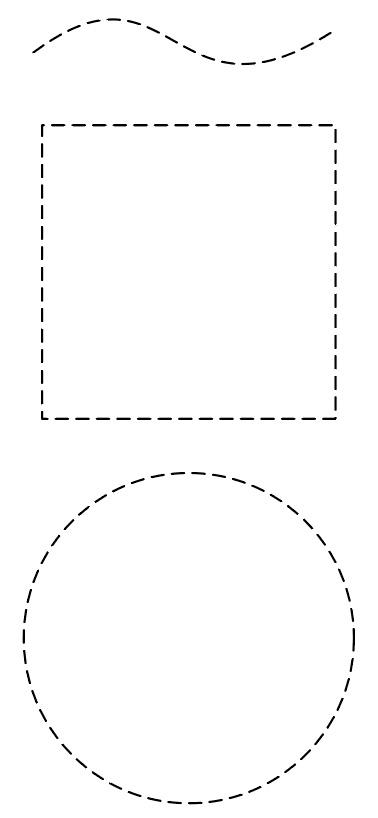 イラレで点線の曲線、四角、丸、枠を作る方法