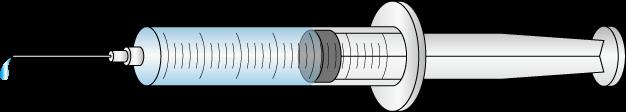 注射器のイラスト画像フリー(無料)【針ありタイプ】