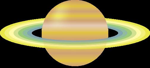 土星のフリーイラスト