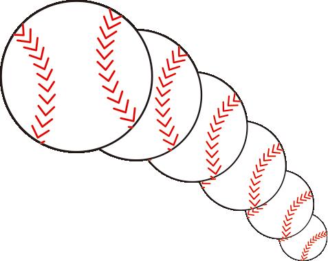 野球ボール フリーイラスト