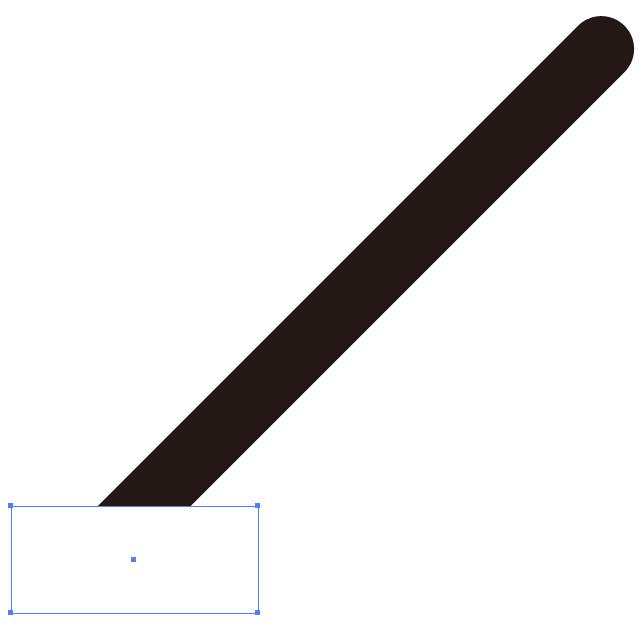 イラレの線(パス)を斜めに切る方法